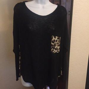 *Final Price *Windsor Black/cheetah Shirt *NWT*